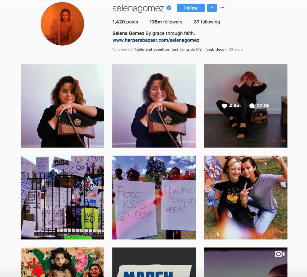 Most followers on instagram