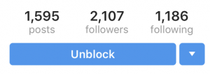 unblock someone on instagam