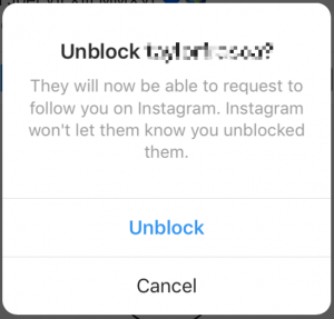 unblock instagram followers