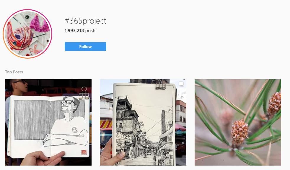 365 project instagram challenge