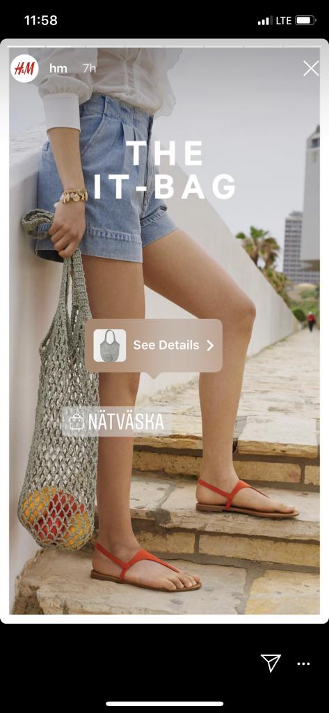 shoppable instagram stories