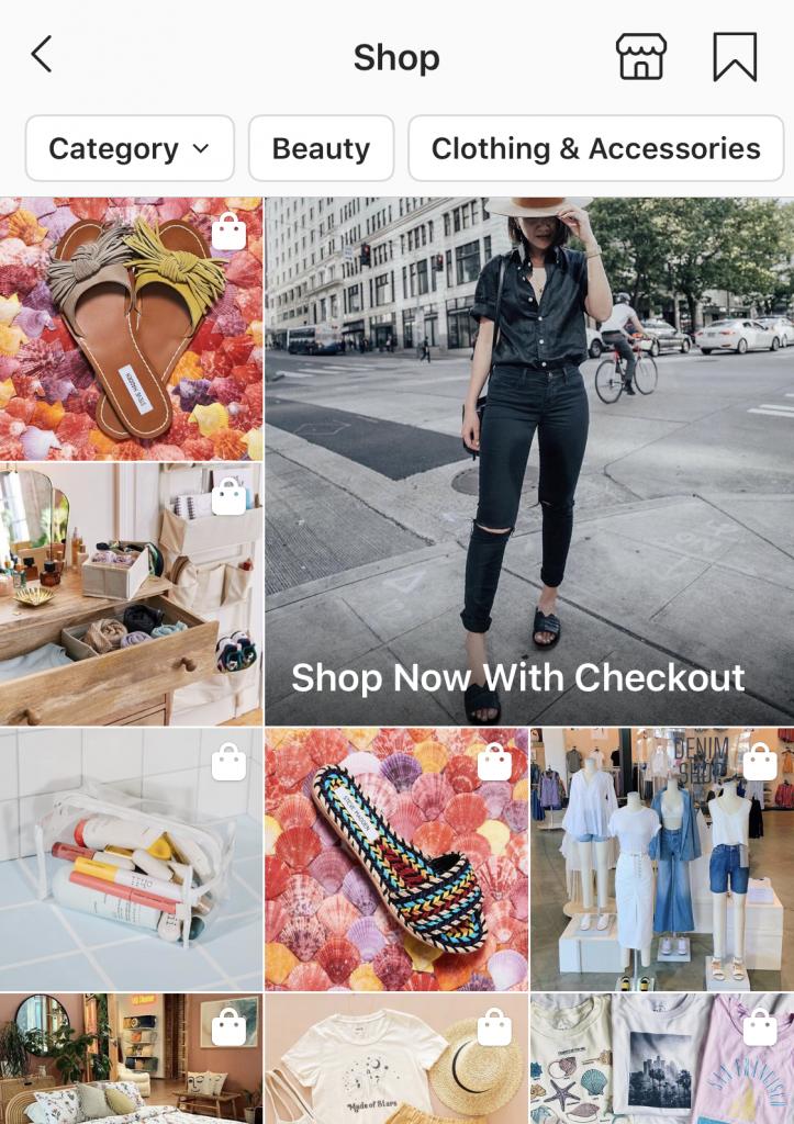 instagram explore shopping